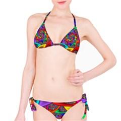 Color Spiral Bikini Set