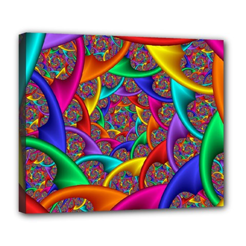 Color Spiral Deluxe Canvas 24  x 20