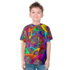 Color Spiral Kids  Cotton Tee