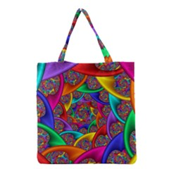 Color Spiral Grocery Tote Bag