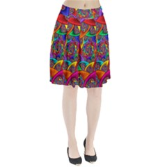 Color Spiral Pleated Skirt