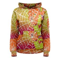 Orange Guy Spider Web Women s Pullover Hoodie
