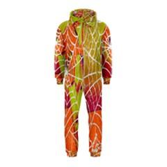 Orange Guy Spider Web Hooded Jumpsuit (Kids)