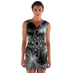 Beautiful Curves Wrap Front Bodycon Dress