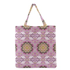 Floral Pattern Seamless Wallpaper Grocery Tote Bag