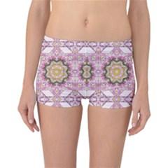 Floral Pattern Seamless Wallpaper Reversible Bikini Bottoms