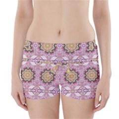 Floral Pattern Seamless Wallpaper Boyleg Bikini Wrap Bottoms