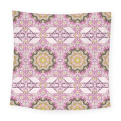 Floral Pattern Seamless Wallpaper Square Tapestry (large)