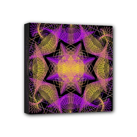 Pattern Design Geometric Decoration Mini Canvas 4  x 4