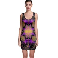 Pattern Design Geometric Decoration Sleeveless Bodycon Dress
