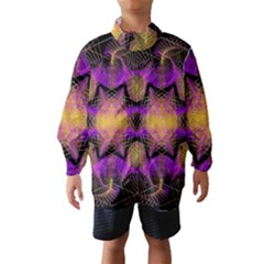 Pattern Design Geometric Decoration Wind Breaker (Kids)
