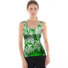 Green Fractal Background Tank Top