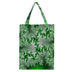 Green Fractal Background Classic Tote Bag