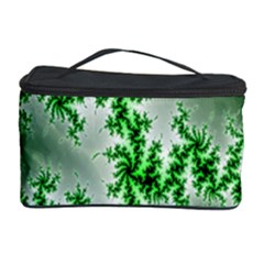 Green Fractal Background Cosmetic Storage Case