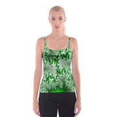 Green Fractal Background Spaghetti Strap Top