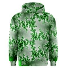 Green Fractal Background Men s Pullover Hoodie