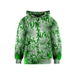 Green Fractal Background Kids  Zipper Hoodie
