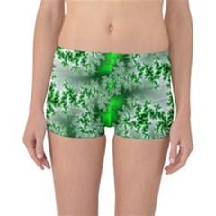 Green Fractal Background Reversible Bikini Bottoms