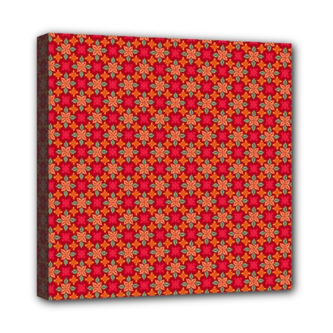 Abstract Seamless Floral Pattern Mini Canvas 8  X 8