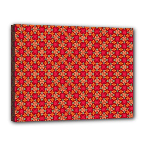 Abstract Seamless Floral Pattern Canvas 16  x 12