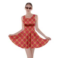 Abstract Seamless Floral Pattern Skater Dress