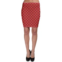 Abstract Seamless Floral Pattern Bodycon Skirt