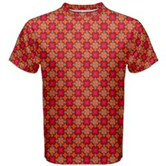 Abstract Seamless Floral Pattern Men s Cotton Tee
