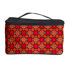 Abstract Seamless Floral Pattern Cosmetic Storage Case