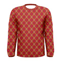 Abstract Seamless Floral Pattern Men s Long Sleeve Tee