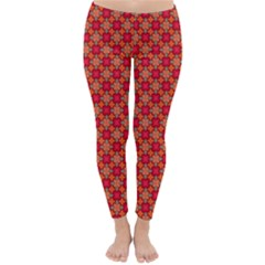 Abstract Seamless Floral Pattern Classic Winter Leggings