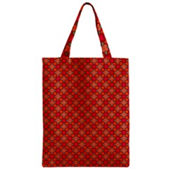 Abstract Seamless Floral Pattern Zipper Classic Tote Bag