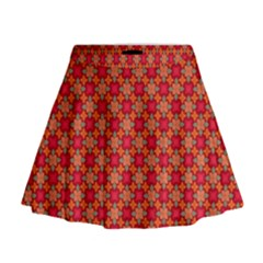 Abstract Seamless Floral Pattern Mini Flare Skirt