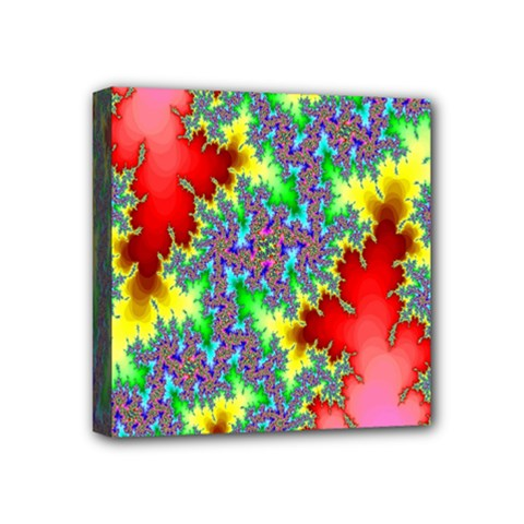 Colored Fractal Background Mini Canvas 4  x 4