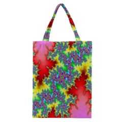 Colored Fractal Background Classic Tote Bag