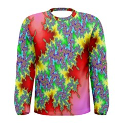 Colored Fractal Background Men s Long Sleeve Tee