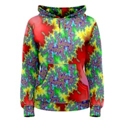 Colored Fractal Background Women s Pullover Hoodie
