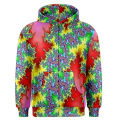 Colored Fractal Background Men s Zipper Hoodie