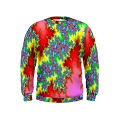 Colored Fractal Background Kids  Sweatshirt