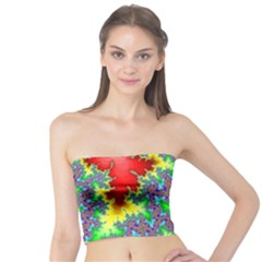 Colored Fractal Background Tube Top