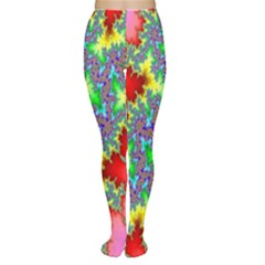 Colored Fractal Background Women s Tights