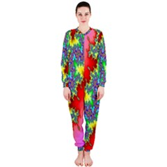 Colored Fractal Background OnePiece Jumpsuit (Ladies)