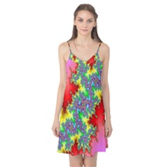 Colored Fractal Background Camis Nightgown
