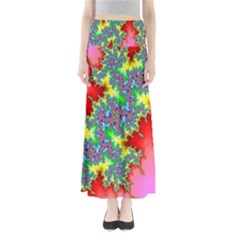 Colored Fractal Background Maxi Skirts