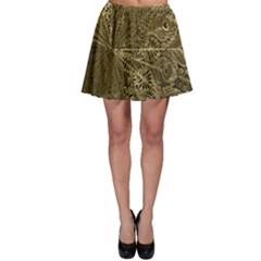 Peacock Metal Tray Skater Skirt