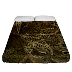 Peacock Metal Tray Fitted Sheet (queen Size)