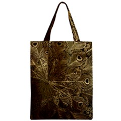 Peacock Metal Tray Zipper Classic Tote Bag