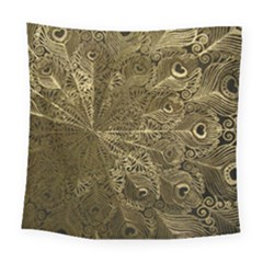 Peacock Metal Tray Square Tapestry (large)