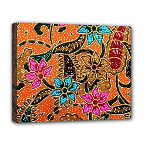 Colorful The Beautiful Of Art Indonesian Batik Pattern Deluxe Canvas 20  x 16