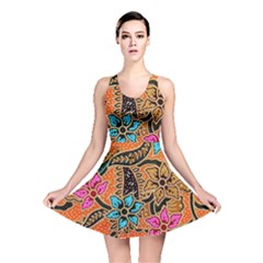 Colorful The Beautiful Of Art Indonesian Batik Pattern Reversible Skater Dress