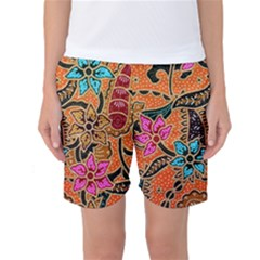 Colorful The Beautiful Of Art Indonesian Batik Pattern Women s Basketball Shorts
